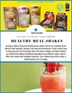 Healthy meal shakes