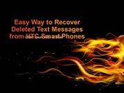 Easy Way to Recover Deleted Text Messages from HTC Smart Phones