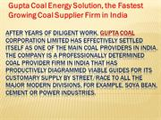 ****Gupta Coal****Padmesh Gupta Coal*****Padmesh Gupta Nagpur