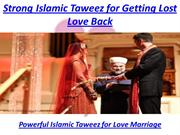 Strong Islamic Taweez for Getting Lost Love Back