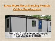 Know More About Trending Portable Cabins Manufacturers