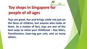 Toy shops in Singapore for people of all ages