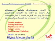 Ecommerce Web Development company Delhi NCR- eCommerce website develop