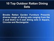 10 Top Outdoor Rattan Dining Sets