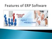 Features of ERP Software