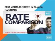 Best Mortgage Rates In Canada Ratetrade