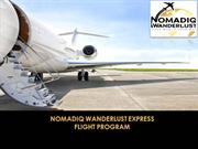 Nomadiq Wanderlust Express Flight Program