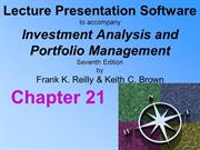 Investment Analysis and Portfolio Management 7th Reilly and Brown Chap