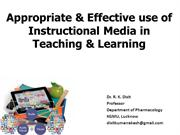 Effective use of media in teaching