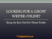 Looking For A Ghost Writer Online?