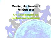 Co teaching in an inclusion classroom