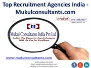 Top Recruitment Agencies India - Mukulconsultants.com