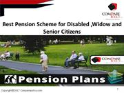 Best Pension Scheme for Disabled ,Widow and Senior Citizens