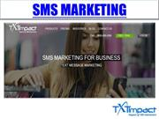SMS Marketing | SMS Text Marketing |SMS Marketing Software