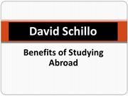 David Schillo - Benefits of Studying Abroad