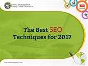 The Best SEO Techniques for 2017