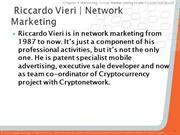 Social Network Marketing specialist Riccardo vieri