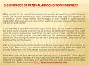 Significance of Central Air Conditioning Upkeep