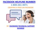 creating a page on facebook with the help of customer care service
