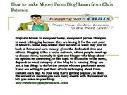 How to make Money From Blog!