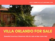 Beautiful luxurious Historical villa for sale at lake como italy