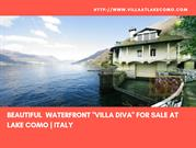BEAUTIFUL WATERFRONT VILLA DIVA FOR SALE AT LAKE COMO  ITALY