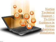 Norton Technical Support - To Give Guidance in Norton Antivirus Instal