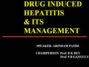 DRUG INDUCED HEPATITIS