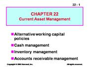 Current Asset Management