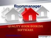 Quality Room Booking Software