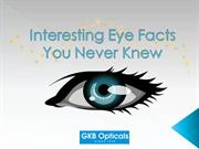 Eye facts : You Probably Didn't Know About Them