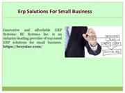 Cloud Erp Small Business