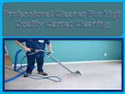 Professional Cleaner for High Quality Carpet Cleaning