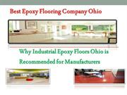 Best Epoxy Flooring Company Ohio