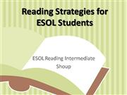 Reading Strategies for ESOL Students