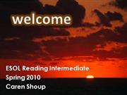 Welcome to ESOL Reading Intermediate