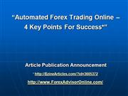 Automated Forex Trading Online 4 Points