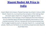 Xiaomi Redmi 4A Price in India