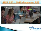 SMS Gateway API | Text Message API | SMS Gateway Services