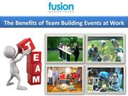 The Benefits of Team Building Events at Work
