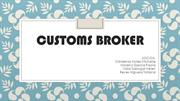 CUSTOMS BROKER FLUJOGRAMAS