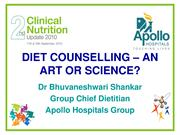 DIET COUNSELLING – AN ART OR SCIENCE_