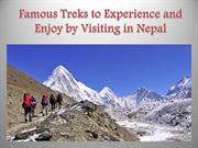 Famous Treks to Experience and Enjoy by Visiting in Nepal