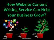 How Website Content writing Service Can Help Your Business Grow?