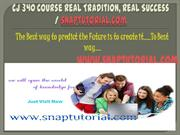 CJ 340 Course Real Tradition, Real Success / snaptutorial.com