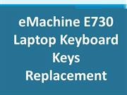 eMachine E730 Laptop Keyboard Keys Replacement