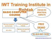 Basic Computer course in Rohtak - Digital Marketing training in Rohtak
