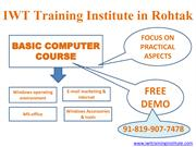 Basic Computer Course In Rohtak