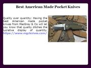 Best American Made Pocket Knives