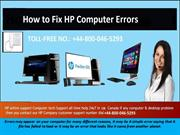 How to Fix HP Computer Errors by HP Technical Support Number